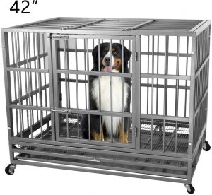 Heavy Duty Metal Dog Cage Kennel Crate by ITORI