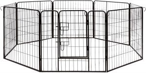 DK32X32 Heavy Duty Pet Playpen Dog Kennel by ALEKO