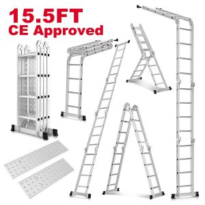 Idealchoiceproduct 15.5' Heavy Duty Gaint Aluminum Multi-Purpose Folding Ladder