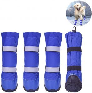 HiPaw Water Nonslip Rubber Sole Resistant Dog Boots for Snow
