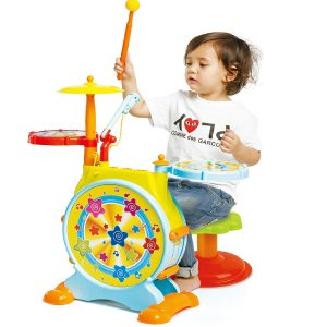 Prextex Electric Toy Drum Set for Kids