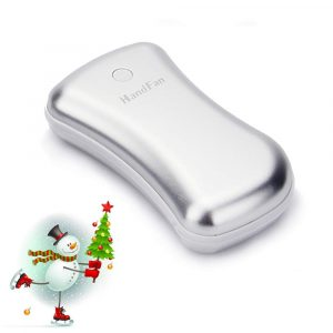 HandFan Ergonomic Metal USB Electric Pocket Portable Hand Warmer