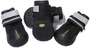 Praised Dog Boots Waterproof Rugged Anti-Slip Sole