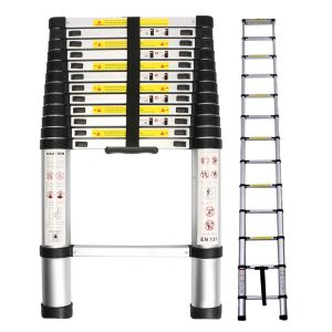 WolfWise 12.5ft EN131 Telescopic Ladder