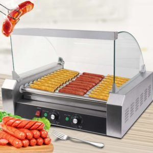 S afstar Commercial Stainless Steel Non-Stick Electric Hotdogs Cooker