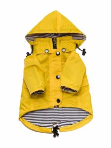 Ellie Dog Wear Yellow Dog Raincoat with Removable Hood