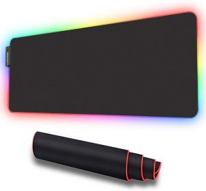 LUXCOMS RGB Oversized Soft Gaming Mouse Pad