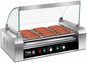 Giantex Electric Sausage Hot Dog Grill Cooker 7 Rollers for 18 Hotdogs