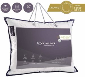 Lincove Goose Down Luxury Sleeping Pillow