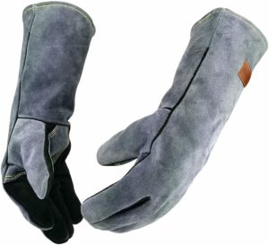 WZQH 16'' Leather Forge Welding Heat Resistant Gloves