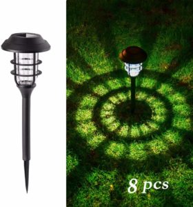 GIGALUMI 8 Pcs Solar Lights Outdoor Pathway