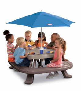 Little Tikes Fold 'n Store Table with Umbrella