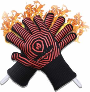 AZOKER 932℉ Extreme Heat Resistant EN407 Certified Silicone Mitts