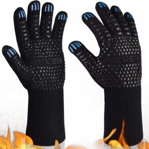 YUXIER Hot BBQ Grill Gloves, 1472°F Oven Mitts