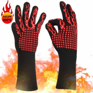 KITHELP Extreme 1472℉ Heat Resistant Grill Gloves
