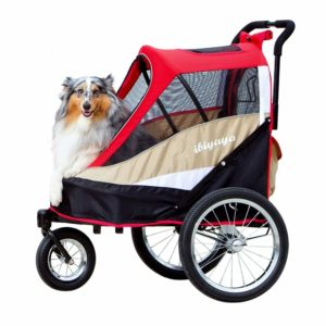 ibiyaya 2-in-1 Pet Strollers for Multiple Pets