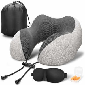 MLVOC Pure Memory Foam Breathable Cover Neck Pillow