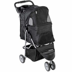 VIVO Three Wheel Pet Fordable Carrier Strolling Cart