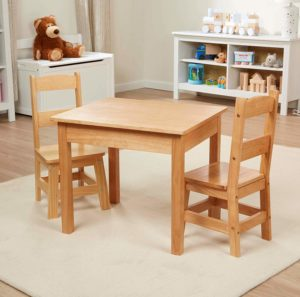 Melissa & Doug Solid Wood Kids Table & Chairs