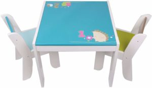 labebe Wooden Activity Table Hedgehog Toddler Chair Set