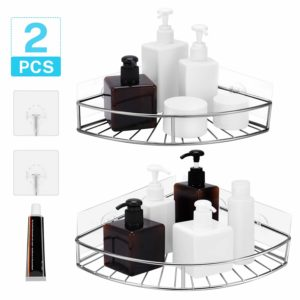Magicfly Corner Shower Caddy with Hooks