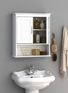 Spirich Home Bathroom Wall Mounted Wood Hanging Cabinet
