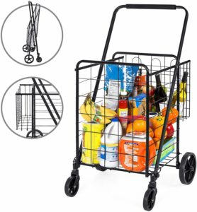 Best Choice Products 24.5x21.5in Folding Steel Storage Utility Cart