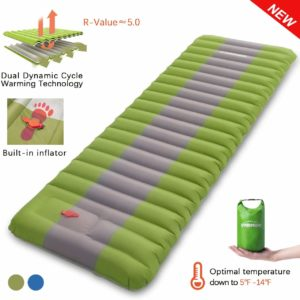 Overmont Sleeping Pad Inflatable Camping Mattress