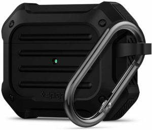 Black Full-Body Rugged Protective Case with Carabiner for Apple Airpods Pro SupCase Unicorn Beetle Pro Series Case Designed for Airpods Pro