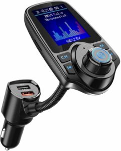 Nulaxy Bluetooth FM Transmitter 1.8inches Color Screen Radio Adapter