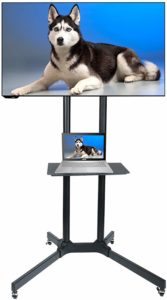 Husky Mount Mobile Heavy Duty Universal Rolling TV Cart
