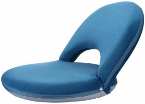 NNEWVANTE Back Foldable Meditation Seating Suede-Like Fabric Chair
