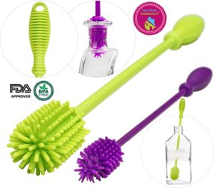 A2S Protection BPA Free Long Handle Baby Bottle Nipple Brush