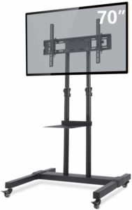 TAVR Furniture Mobile TV Stand Rolling TV Cart Floor Stand