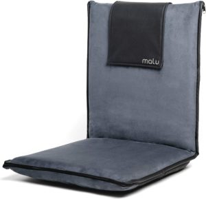 malu Luxury Padded Floor Meditation Chair with Back Support