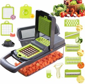 Alrens 11 in 1 Vegetable Slicer Potato Onion Veggie Chopper Dicer