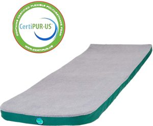 LaidBackPad memory foam mattresses for camping
