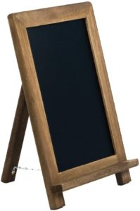 VersaChalk Rustic Table Top Chalkboard Easel Sign with Stand