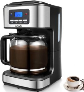 AICOK 12 Cups Programmable Drip Coffee Maker
