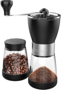 TRIPLE TREE Hand coffee grinder with Ceramic Burrs and 2 Jars