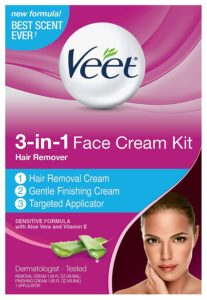Veet 3-in-1 Sensitive Formula Face Cream Hair Remover Kit