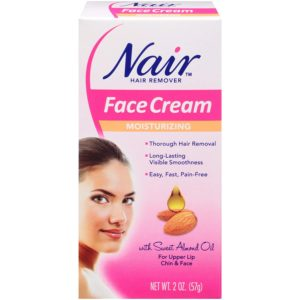 Nair Hair Remover Face Cream, with Sweet Almond Oil