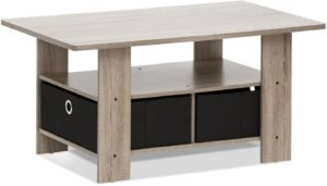 FURINNO Andrey Coffee Table with Bin Drawer