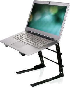 Pyle Portable Adjustable Laptop Anti-Slip Standing Table