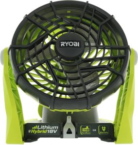 Ryobi P3320 18 V Hybrid One + Battery AC Powered Fan