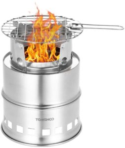 TOMSHOO Foldable Stainless Steel Camp Wood Stove