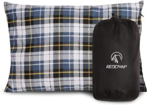REDCAMP Outdoor Camping Pillow with Flannel Case