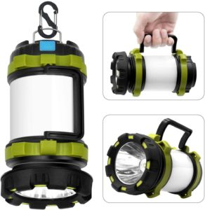Wsky 6 Modes Rechargeable Camping Lantern Flashlight
