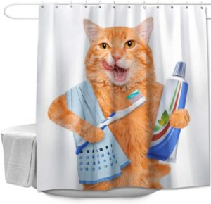 Colorful Star Funny Shower Curtain with Hooks