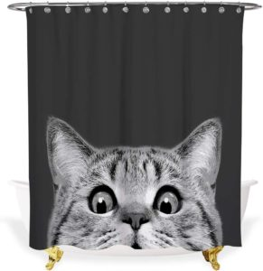 Alimumu 3D Art Print Fabric Cat Curtain